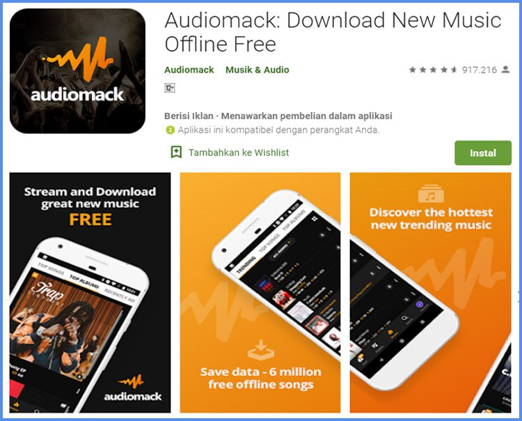 Audiomack Aplikasi Download Lagu Offline