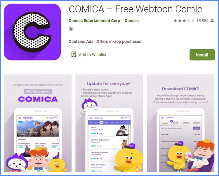Comica Aplikasi Baca Komik Terbaik Untuk Hp