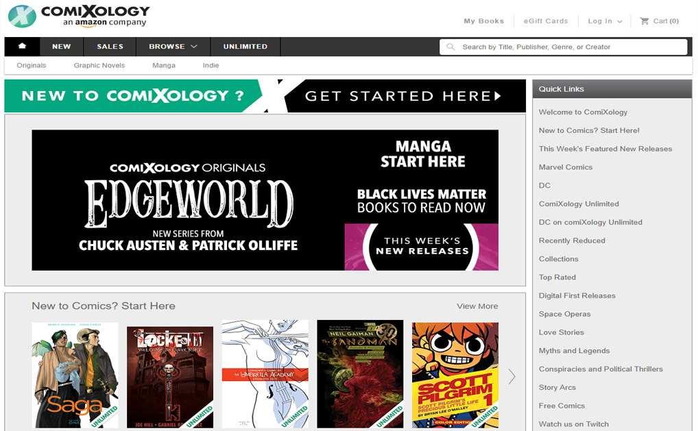 Comixology Website Baca Manga Bahasa Inggris