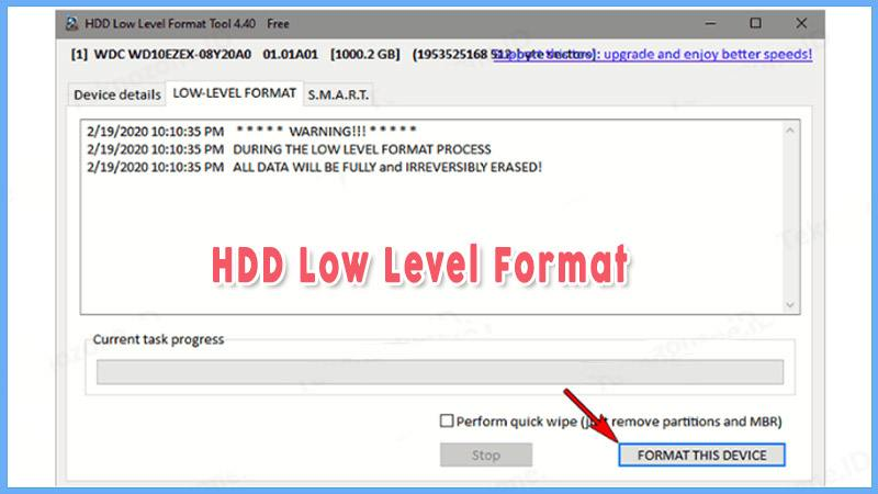Hdd Level Format