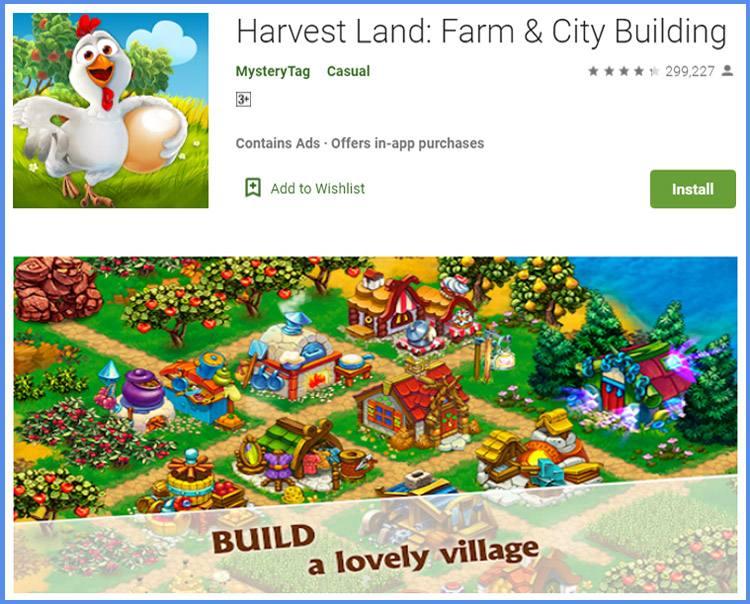 Harvest Land Game Peternakan Dan Berkebun