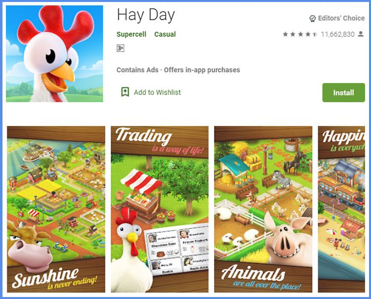 Hay Day Game Peternakan Android