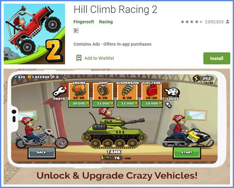 Hill Climb Racing 2 Game Balapan Android