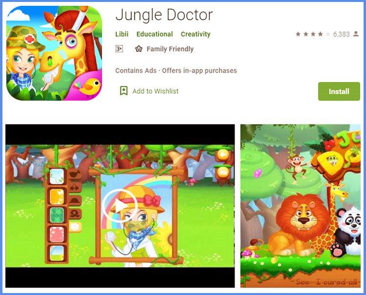 Jungle Doctor Game Patroli Dokter Hewan