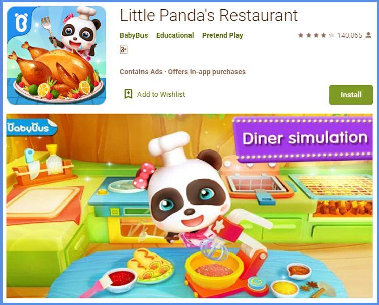 Little Pandas Restaurant Game Masak Untuk Anak Terbaik Android