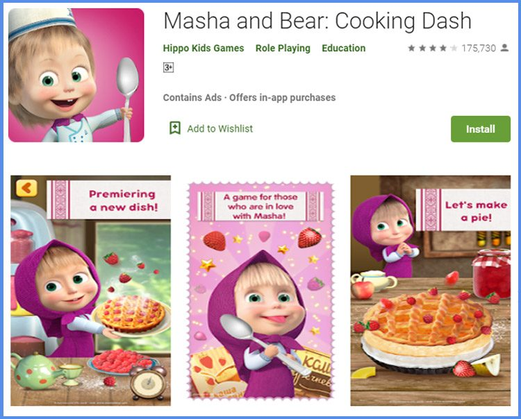 Masha And Bear Game Memasak Terbaik Android