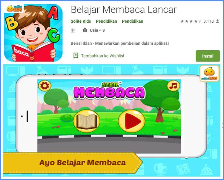 Belajar Membaca Lancar Game Edukasi Untuk Anak