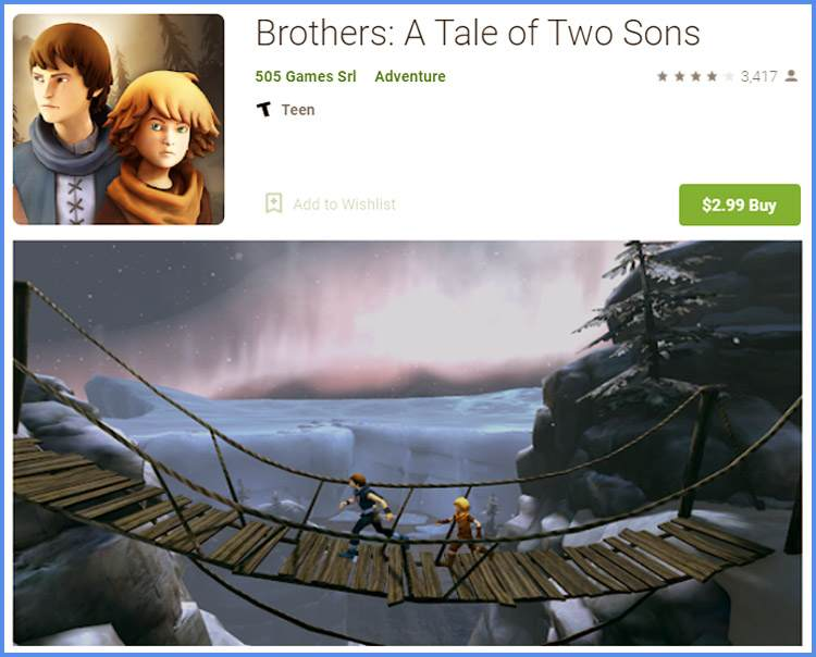 Brother A Tale Of Two Sons Game Android Dengan Grafis Bagus