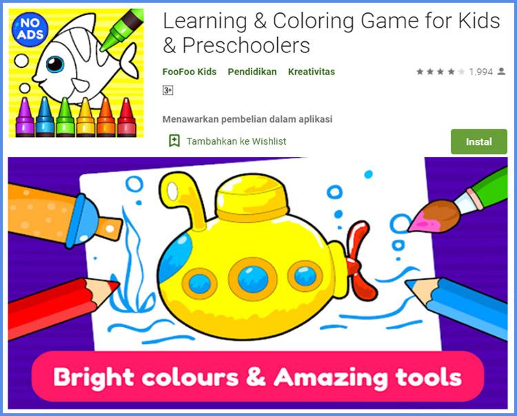 Learning And Coloring Game Edukasi Untuk Anak