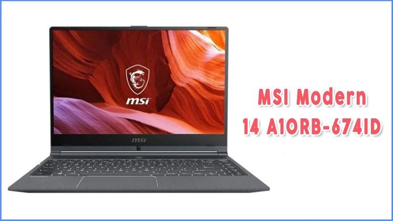 Laptop Gaming Murah Dibawah 10 Juta Msi Modern 14 A10rb 674id