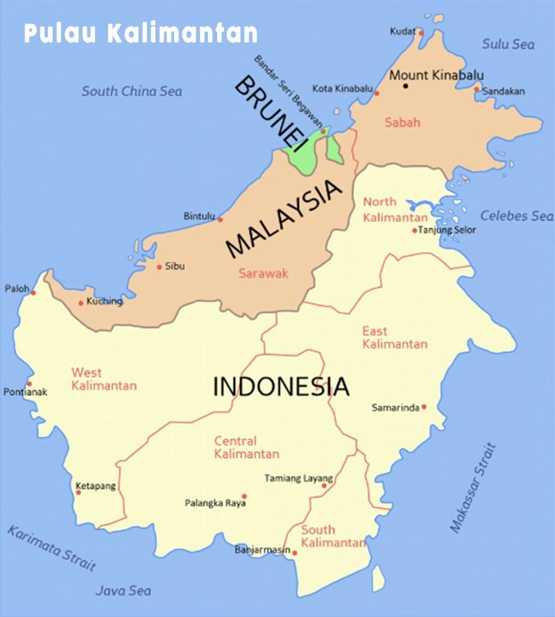 Legenda Terbentuknya Pulau Kalimantan